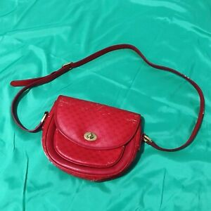 GUCCI GUCCISSIMA RED VINTAGE LEATHER MESSENGER BAG 100% AUTHENTIC