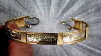 Bracelet in 14kt Rolled Gold and Sterling Silver Unisex Size 6 to 8