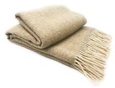 Agarraron Plaid 140 x 200 cm 100% lana merino, arena vainilla