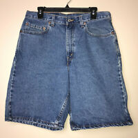 Vintage Levis 550 Mens Stone Wash Relaxed Fit Denim Jeans Shorts Size W 34 L 00