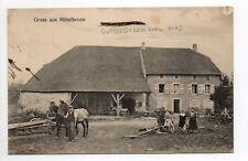 MITTELBRONN  Moselle CPA 57 maison chevaux matériel agricole
