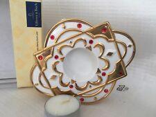Villeroy & Boch-lumi di Natale- supporto ovale scalda te porcellana e oro zecchi