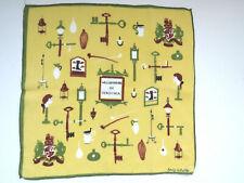 Vintage Williamsburg Virginia Souvenir Handkerchief Emily Whaley Early America
