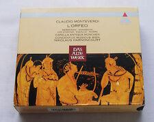 HARNONCOURT / MONTEVERDI L'Orfeo GERMANY 2CD box TELDEC 2292-42494-2 (1992)