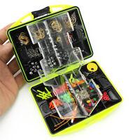 Eg _ Accessori Pesca Attrezzatura Ganci Box 157pc / Set Esche Artificiali