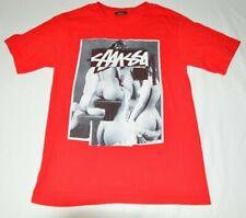 Stussy Skateboard Naked Ladies T-Shirt Mens S Red Streetwear Logo Skate Urban