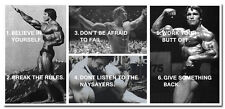 ARNOLD SCHWARZENEGGER Bodybuilding Motivational Quotes Silk Poster 24x50 inches