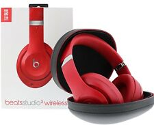 Beats by Dr. Dre Studio3 Wireless Headband Apple Headphones Red USED EXCELLENT!