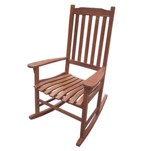 Northbeam Indoor Outdoor Acacia Wood Traditional Rocking Chair, Natural Stained
