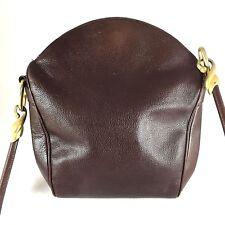 DE VECCHI HAMILTON HODGE HANDBAG Brown Leather Shoulder Magnetic Made Italy