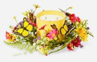 Bath & Body Works 3 wick candle holder ring Batterfly spring, summer