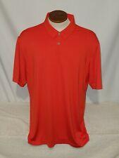 adidas Mens Shirt Polo Golf short sleeve Orange Size Large