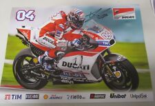 Andrea Dovizioso (Italy) signed 2017 Ducati poster + COA  / Photo proof