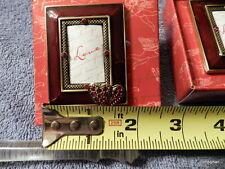Austrian Crystal Jeweled Mini Photo Frame Two hearts Enamel by Two's Company