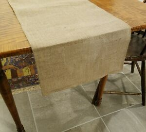 Plain Natural Burlap Table Runner with Folded Edges UNLINED - Various Sizes