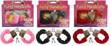 Hen Party Furry Handcuffs - Pink, Black Or Red Available