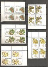 USSR 1980...Деревья и Кустарники...(5 Blocs of 4)...MNH...Сол. 5120-5124