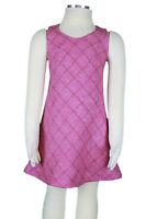 JACADI Girl's Sante Rose Pink Argyle Sleevless Dress Size 2 Years NWT $66