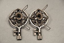 Pair of High Quality Small Condenser Shock Mounts Fits Shure SM81 AT4041