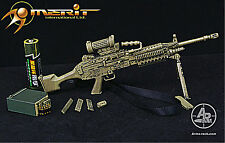 MK 48 Light Machine Gun LMG in  Sand/Camo Arms 1/6 Scale Action Figure Accessory