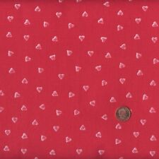 Textiles Français Red Mini Hearts French Fabric 100 Cotton 140 Cm Wide