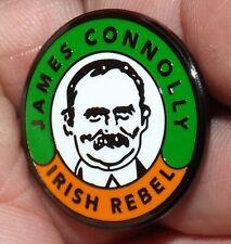 ENAMEL JAMES CONNOLLY IRISH REPUBLICAN BADGE PIN  POLITICAL OLD IRA ARMY ICA GPO