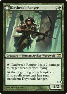 DAYBREAK RANGER - Innistrad MtG Green Creature - Human Archer Werewolf RARE Card