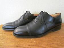 Magnanni Cap Toe Oxfords Black Leather Model 9249 Mens 9.5 EU 42.5 M Medium EUC