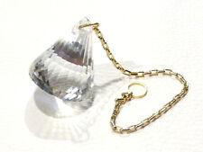 Pendule cristal diamant  voyance radiesthésie