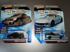 HOT WHEELS Speed Machines Black Porsche Cayman S & 599 GTB FIORANO