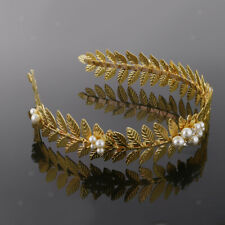 Headpiece Tiara Gold Color Leaf Hippie Headband Branch Leaves Boho Hair Band