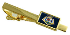 Royal Navy Royal Fleet Auxiliary Largs Bay Gold Tie Clip Engraved