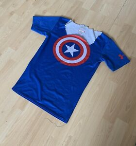 Men's/Boy's UnderArmour Alter-Ego Captain America Compression T-Shirt