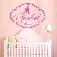 Wall Decal Custom Baby Name Plate Angel Wings Cupid Love Word Letter M1390