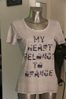 Joli tee-shirt manches courtes femme style marinière BOSS ORANGE taille M