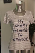 Bonito camiseta de manga corta mujer estilo marinero BOSS NARANJA talla M