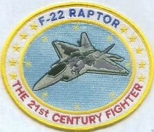 "USAF F-22 RAPTOR PATCH, ""THE 21ST CENTURY FIGHTER""                         C"