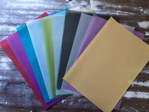 10 x A4 Sheets of VELLUM PAPERS Mixed Colours - BRIGHTS