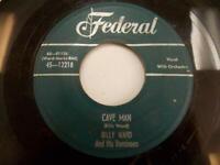 Billy Ward And His Dominoes Cave Man 1955 Doo Wop R&B 45 VG Federal 45-12218