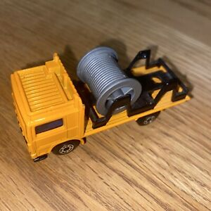 Matchbox Volvo Cable Truck Orange 1981 Superfast 1:80 Made England Lesney Cables