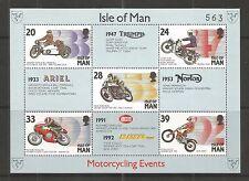 I.O.M 1993 MANX MOTOR CYCLING EVENTS MINISHEET  SG,MS572 UM/M N/H LOT RL5