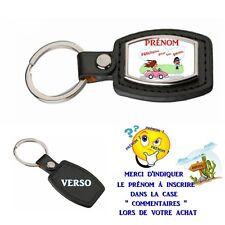 porte clé simili cuir réussite permis auto personnalisé avec prénom choix réf 04