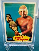 1985 Hulk Hogan Topps WWF WWE #16 Rookie Blue PRO Wrestling STARS Card CENTERED