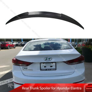 Fit For Hyundai Elantra AD 6th 4D Unpainted Rear Trunk Spoiler DTO V Style 16-18