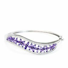 Diamond Natural Amethyst Sterling Silver Fine Jewellery