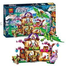 Mysterious bazaar ELVES Dragon Castle BuildingToy Christmas gift 694pcs fit lego