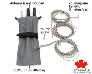 COMET HFJ-350M bag/case + counterpoise antenna grounded 5 meters/ Icom IC-705
