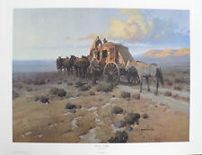 """""""Hitchin' A Ride"""" by Robert Pummill 22x28"""" 255/1000 Limited Edition Signed Print"""