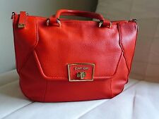 Calvin Klein Red Leather Medium Size Hobo Handbag