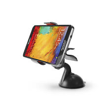 Universal Dashboard Windshield Car Mount + Suction Sticky Pad for Phones to 4""